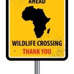 Wildlife crossing sign — Stock Vector