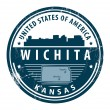 Kansas, Wichita stamp - Stock Vector