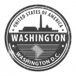 Stock Vector: Washington D.C., Washington stamp