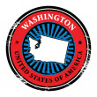 Stock Vector: Washington stamp