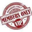 Stock Vector: Members Only, VIP stamp