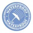 Stock Vector: Waterproof stamp