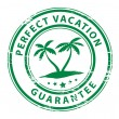 Perfect Vacation stamp — Stock Vector