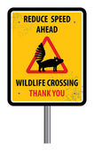 Wildlife crossing sign — Stock Vector