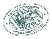 Vintage Photography stamp — Stock Vector