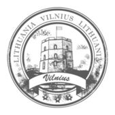 Vilnius, Lithuania stamp — Stock Vector