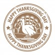 Stock Vector: Happy Thanksgiving Day stamp