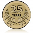 Royalty-Free Stock Vector Image: 25 anniversary