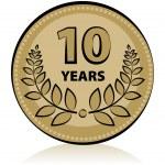 10 anniversary — Stock Vector