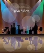 餐厅的饮料菜单 — 图库矢量图片