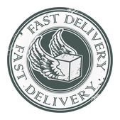 Fast Delivery stamp — Stock Vector