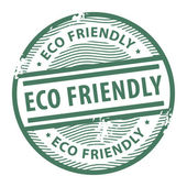 Eco Friendly stamp — Vector de stock