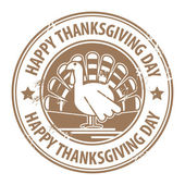 Happy Thanksgiving Day stamp — Stock Vector