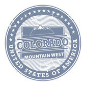 Colorado, Mountain West stamp — Stock Vector