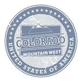 科罗拉多州的山区西邮票 — 图库矢量图片