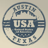 Texas, Austin stamp — Stock Vector