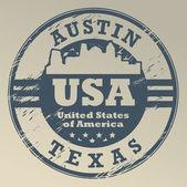 Texas, Austin stamp — Stock Vector
