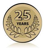 25 anniversary — Stock Vector