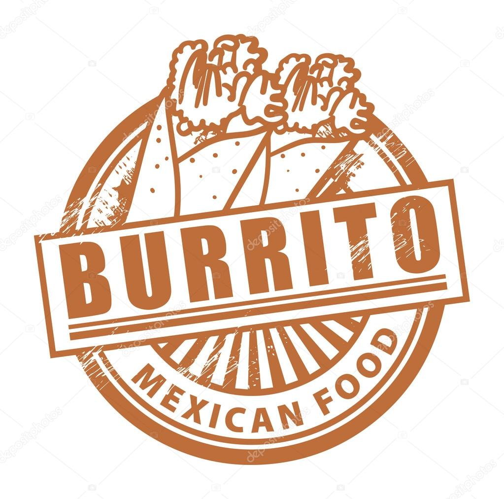Grunge rubber stamp, with the text Burrito written inside  Stock Vector #16248103