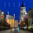 Stock Photo: Vilnius at night, Christmas