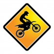 Stock Vector: Motocross sign