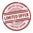 Vector de stock : Limited Offer stamp