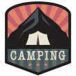 Mountain camping sign — Stock Vector