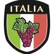 Italian label with grapes - Stock Vector