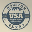 Texas, Houston stamp - Stock Vector