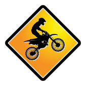 Motocross sign — Stock Vector