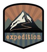Mountain expedition sign — Stock Vector