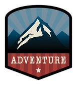 Mountain adventure sign — Stock Vector