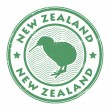 New zealand stamp — Stock Vector