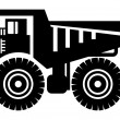 Dump truck icon - Stock Vector
