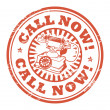 Call Now stamp — Stock Vector