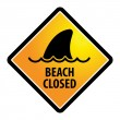 Shark sighting sign — Image vectorielle