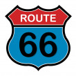 Route 66 sign — Vettoriali Stock