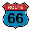 Route 66 sign — Vettoriale Stock #16909565