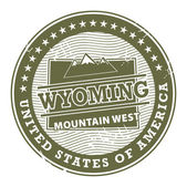 Wyoming, Mountain West stamp — Stock Vector