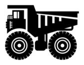 Dump truck icon — Stock Vector