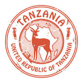 Tanzania stamp — Stock Vector