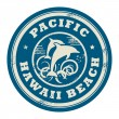 Pacific, Hawaii stamp - Stock Vector