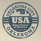 Oklahoma, Oklahoma City stamp — Stock Vector