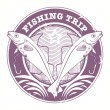 Постер, плакат: Fishing Trip stamp