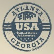 Royalty-Free Stock Vector Image: Georgia, Atlanta stamp