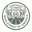 Route 66, Chicago stamp — Vettoriali Stock