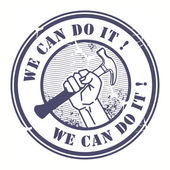 We can do it — Stock Vector
