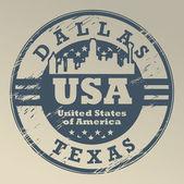 Texas, Dallas stamp — Stock Vector