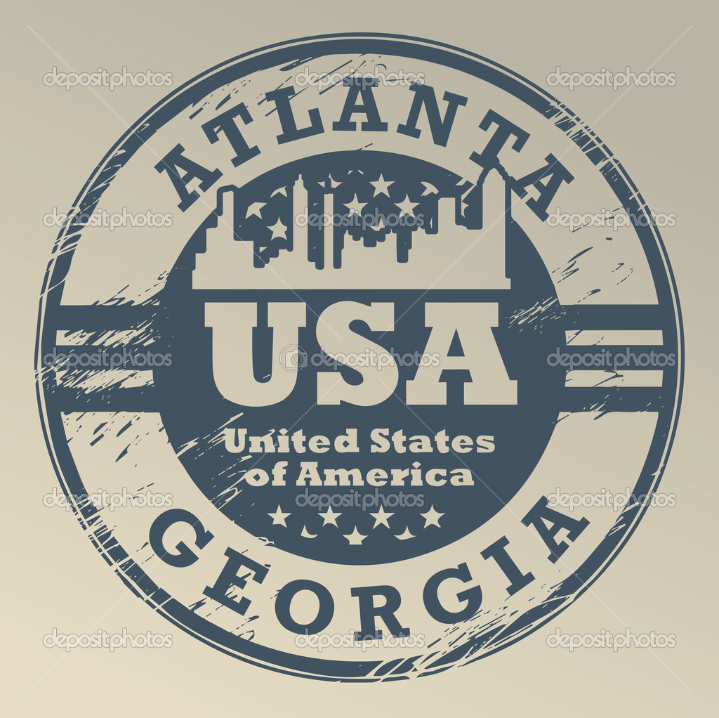 Grunge rubber stamp with name of Georgia, Atlanta  Stock Vector #17659327