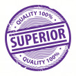 Superior stamp - Stock Vector